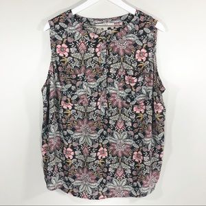 Loft Sleeveless Blouse Size 18